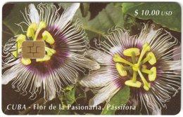 CUBA A-323 Chip Etecsa - Plant, Flower - Used - Cuba
