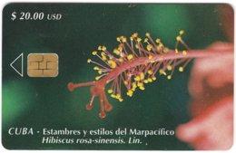 CUBA A-324 Chip Etecsa - Plant, Flower - Used - Cuba