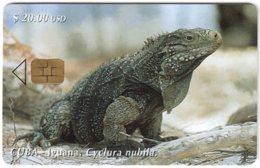CUBA A-327 Chip Etecsa - Animal, Lizard - Used - Cuba