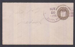 1896. EL SALVADOR.  Envelope  1 UN CENTAVO Coat Of Arms. CANCELLED SANTA ANA NOV 26 1... () - JF362225 - El Salvador
