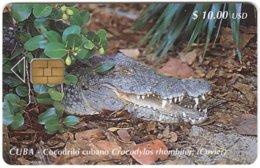 CUBA A-334 Chip Etecsa - Animal, Crocodile - Used - Cuba