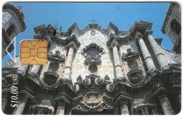 CUBA A-344 Chip Etecsa - Architecture, Historic Building - Used - Cuba