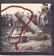 ( 80 ) -  Somme Erdmörser  Sept. '15  Canon Leutnant Schad Photo  Allemande 1° Guerre - France