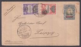 1909. EL SALVADOR.  Envelope  1909 On 5 C. JOSE ESCALON. + 2 And 10 C National Palas ... () - JF362242 - El Salvador