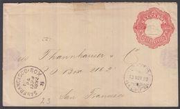 1892. EL SALVADOR.  Envelope (tears)  10 DIEZ CENTAVOS. Columbus. From LA LIBERTAD 13... () - JF362245 - El Salvador