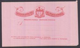 1896. EL SALVADOR.   BILLETE POSTAL SERVICIO INTERIOR  3 CENTAVOS CASA DE CORREOS DE ... () - JF362250 - El Salvador