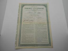 Action Société Du Cabinet Littéraire De Verviers  1891 N°254 Signature:Simonis,Charles Thirion - Shareholdings
