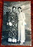 MONTAGE PHOTO SNAPSHOT VIETNAM INDOCHINE  ETHNIC SAIGON WOMAN GIRL ROBE FASHION SURREALISME PHOTOMONTAGE SURRELISM - Photographs
