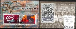 NB - [842966]TB//-ONU - Vienne  - 2 Blocs Fdc 1er Jour - FDC