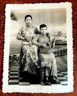 MONTAGE PHOTO SNAPSHOT VIETNAM INDOCHINE MANDOLINE MUSICIENNE ETHNIC SAIGON SURREALISME PHOTOMONTAGE SURRELISM - Fotos
