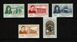 Costa Rica 1960 Sc # PA  C298 / C302  MNH **  St Louisa Orphanage , St Vincent De Paul - Religions