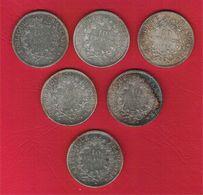 Monnaie Française Hercule10 Francs Argent Lot De 6 Pièces G.813 - K. 10 Francs