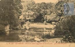 62 - Saint-Omer - Le Jardin Public - Bassin Des Cygnes Et Cascade - CPA - Voir Scans Recto-Verso - Saint Omer