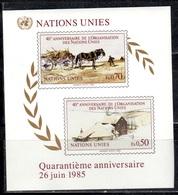 UNG+ VNGenf 1985 Mi Bl. 3 - 133-34 Mnh UNO GH - Genève - Kantoor Van De Verenigde Naties