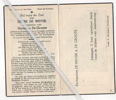 DESIRE DE WEVER ° OUWEGEM + HUISE OP 84 JAAR IN 1949 / HORTENSE DE GROOTE - Devotion Images