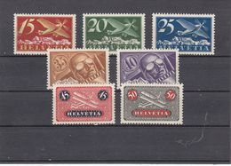 Suisse - P.A. - Neuf** - Année 1923-33 - N°YT 3/9** - Emission Définitive - Airmail