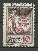 LETTLAND Latvia 1919 Michel 32 O Without Stripes - Latvia