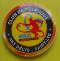 Fève Perso Patisserie Aux Délys - Saint Lys  - Club De Pétanque - Deportes
