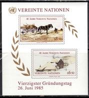 UNW+ VNWien 1985 Mi Bl. 2 - 51-52 Mnh UNO GH - Blokken & Velletjes