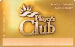 SunCruz - Casino Cruise Ship From Florida - BLANK Gold Member Slot Card - Casino Cards