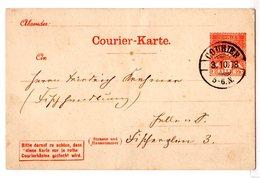Courier Halle, Ganzsache-karte, Bedarfsgebraucht - Private