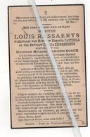 LOUIS RASSAERTS ° WERCHTER 1869 + WESPELAER 1935/E.CASTEELS/R.EMMERECHTS/ M. VANDEN BOSCH/OUD-SOLDATEN WAKKERZEEL - Devotion Images
