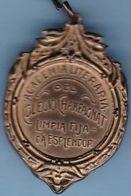 ACADEMIA LITERARIA DEL COLEGIO CHAMPAGNAT, LIMPIA FIJADA ESPLENDOR. MEDALLA CIRCA 1930's ARGENTINA MEDAILLE ECOLE -LILHU - Professionnels / De Société