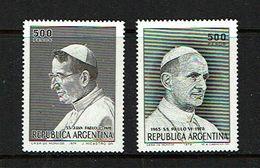 Argentina 1979 Sc # 1251 / 1252    MNH **  Pope Paul VI - Papes