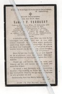 EERW.HEER KAMIEL VERHAERT ° BEVEREN-WAES 1856 + BURST 1917 / ONDERPASTOOR ASTENE/LOOTENHULLE EN ST.MACARIUS GENT - Devotion Images