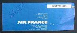 Billet Air France Dakar Marseille 1971 Avec Publicité Total - Vliegtickets