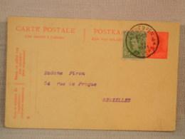 ENTIER POSTAL BELGIQUE  ROI ALBERT 10c ROUGE + Complément De 5c VERT - OBLITERATION ANTWERPEN 1921 - Postales [1871-09]