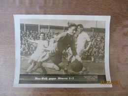 """BLAU-WEISS GEGEN MINERVA 3:2  """"BILDSCHAU VOM TAGE"""" FOTO ATLANTIC REPRODUKTION VERBOTEN 24cm/18cm - Voetbal"""
