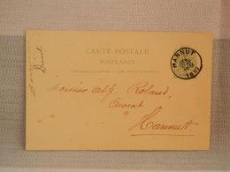ENTIER POSTAL BELGIQUE 5c VERT - Oblit HANNUT 1899 - Entiers Postaux