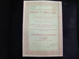 """Action """"Briqueteries Et Céramiques Liégeoises"""" Ans (Liège)1899 .Très Bon état,avec Tous Les Coupons - Industrie"""