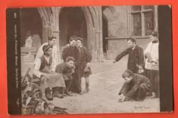 ZAM-07  Jeu De Billes De Moreau. Enfants Faisant Une Partie De Billes. Circulé En 1912 - Regional Games