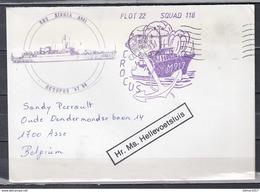 Brief Van Flot 22 Squad 118 Hellevoetsluis Naar Asse - Stamped Stationery