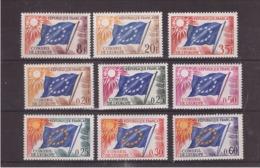 FRANCE - SERVICE - Conseil De L'Europe - Belle Série De 9 Timbres Période 1958 - 1964 - Neuf X - Neufs