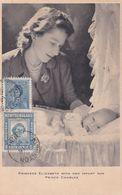 Carte Maximum CANADA  Yt 227  TERRE NEUVE Yt 230  Princess  Elisabeth Prince Charles 1950  Maximum Card - Maximumkaarten
