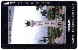 INDONESIA A-682 Magnetic Telkom - Architecture, Clocktower - Used - Indonesië