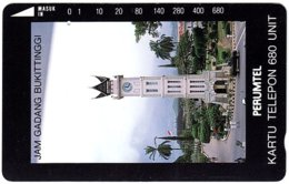 INDONESIA A-683 Magnetic Telkom - Architecture, Clocktower - Used - Indonesië