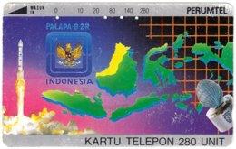 INDONESIA A-687 Magnetic Telkom - Map, Indonesia - Used - Indonesië