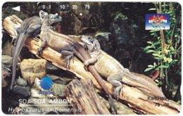 INDONESIA A-702 Magnetic Telkom - Animal, Lizard - Used - Indonesië