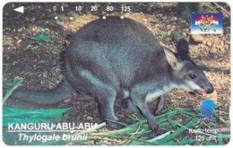 INDONESIA A-704 Magnetic Telkom - Animal, Kangaroo - Used - Indonesië