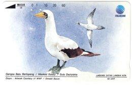 INDONESIA A-705 Magnetic Telkom - Painting, Animal, Bird - Used - Indonesia