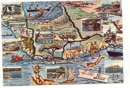 Bouches-du-Rhône Martigues La Côte Bleue Carte Postale Map Postcard Multivues Pêche Sous-marine Scuba Diving - Martigues