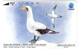 INDONESIA A-711 Magnetic Telkom - Painting, Animal, Bird - Used - Indonesië