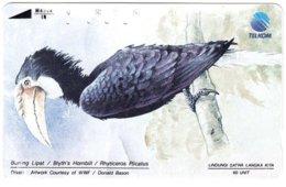 INDONESIA A-712 Magnetic Telkom - Painting, Animal, Bird - Used - Indonesië