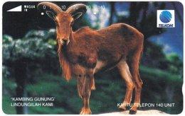 INDONESIA A-714 Magnetic Telkom - Animal, Capricorn - Used - Indonesië