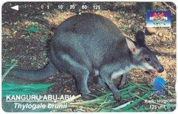 INDONESIA A-716 Magnetic Telkom - Animal, Kangaroo - Used - Indonesië