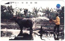 INDONESIA A-718 Magnetic Telkom - Animal, Water Buffalo - Used - Indonesië